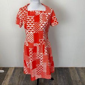 Vintage 60s Flutterby Red Summer Dress